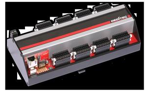 Ethernet Modul mit 32 Optokoppler-Eingängen und 32 Relais-Ausgängen