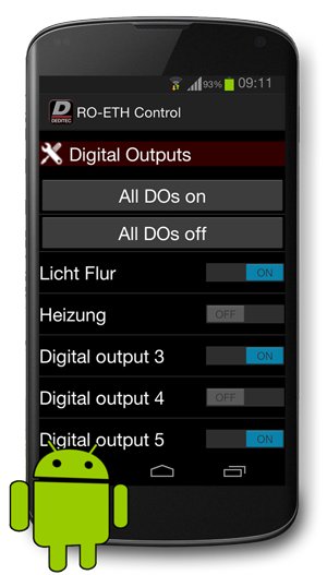 Produkt Photo: - Ethernet-I/O-Modul per Smartphone App fernsteuern